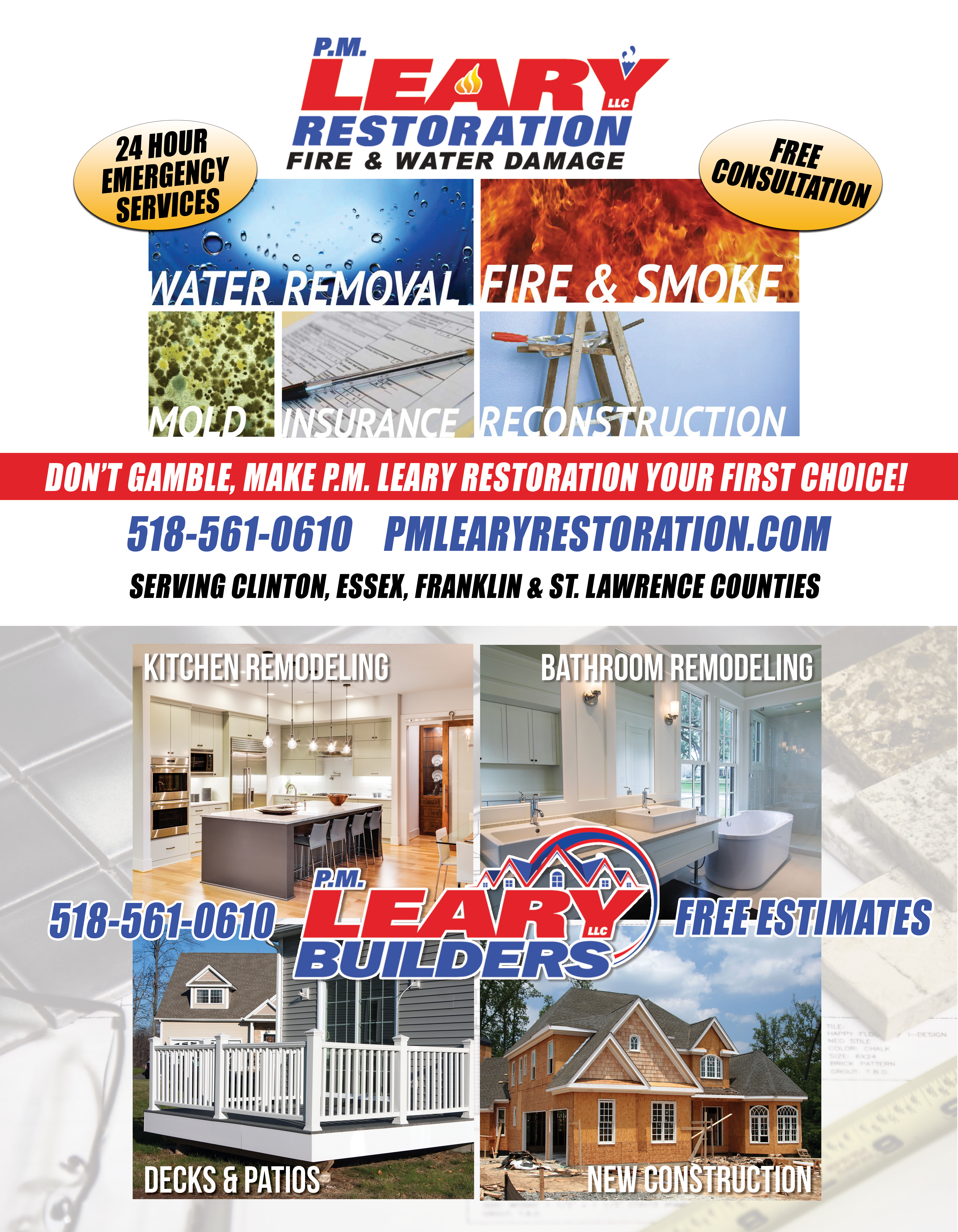 STRICKTLY BUSINESS - PR-PM LEARY RESTORATION - FULL PAGE HORIZONTAL